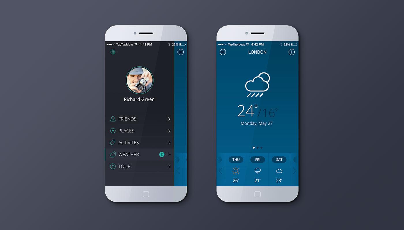 Mobile app - blue version